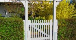 Gartenhecke mit Gartentor